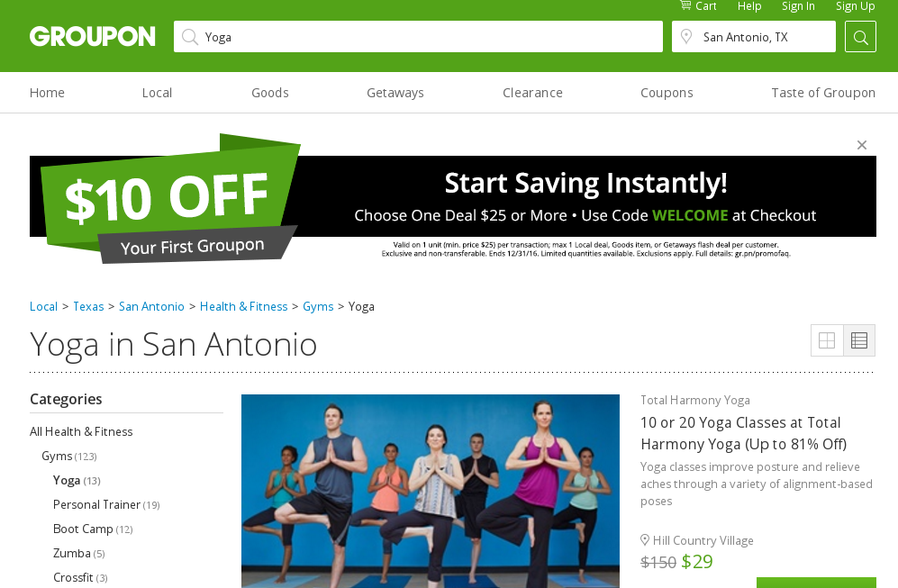Yoga san Antonio