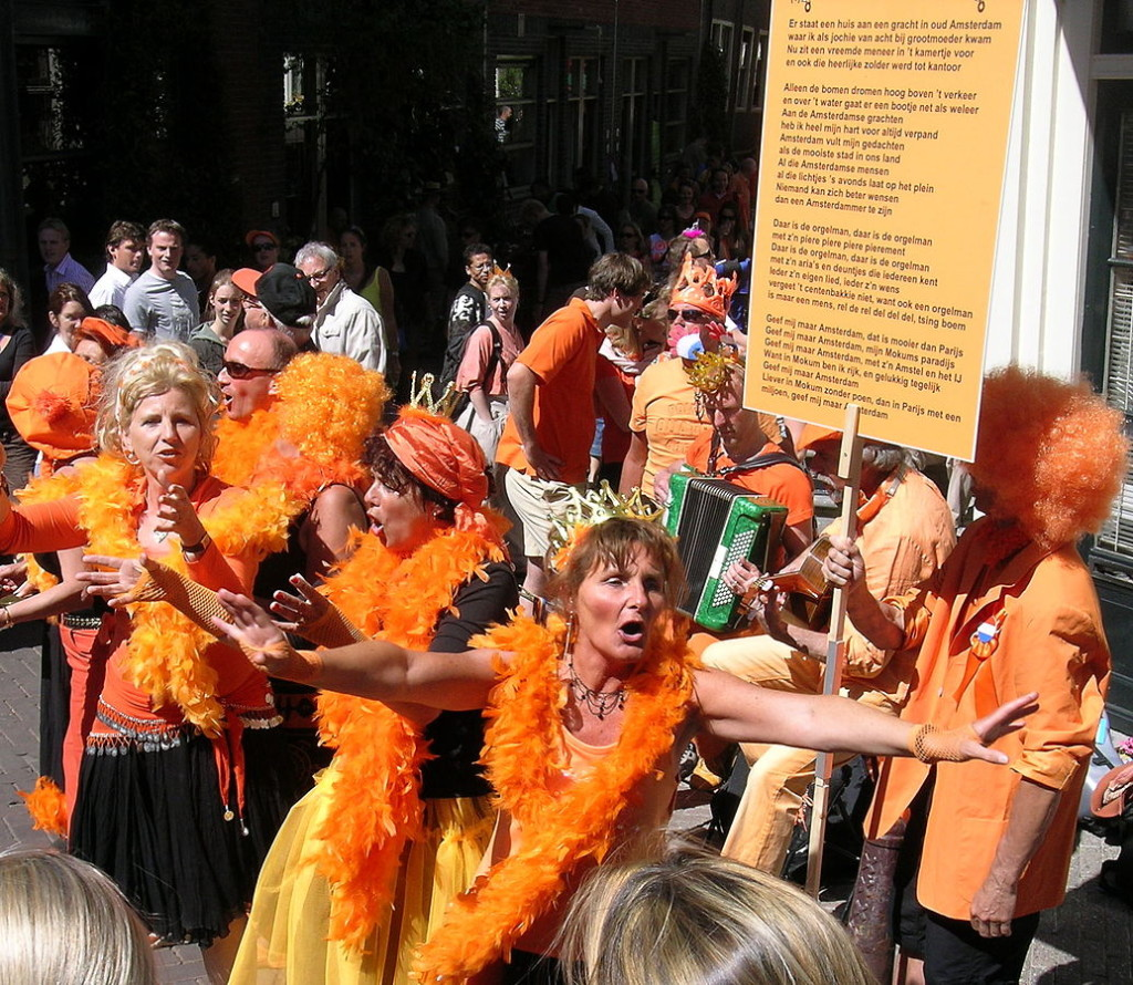 King's Day is one of the biggest Annual Events Held In Amsterdam ... Photo by CC user DirkvdM on wikimedia commons